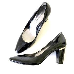 "ETIENNE AIGNER Black Patent Leather 3"" Heels 91/2M"